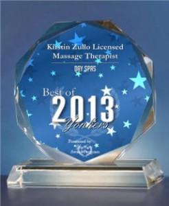 Kirstin Zullo was voted best massage therapist