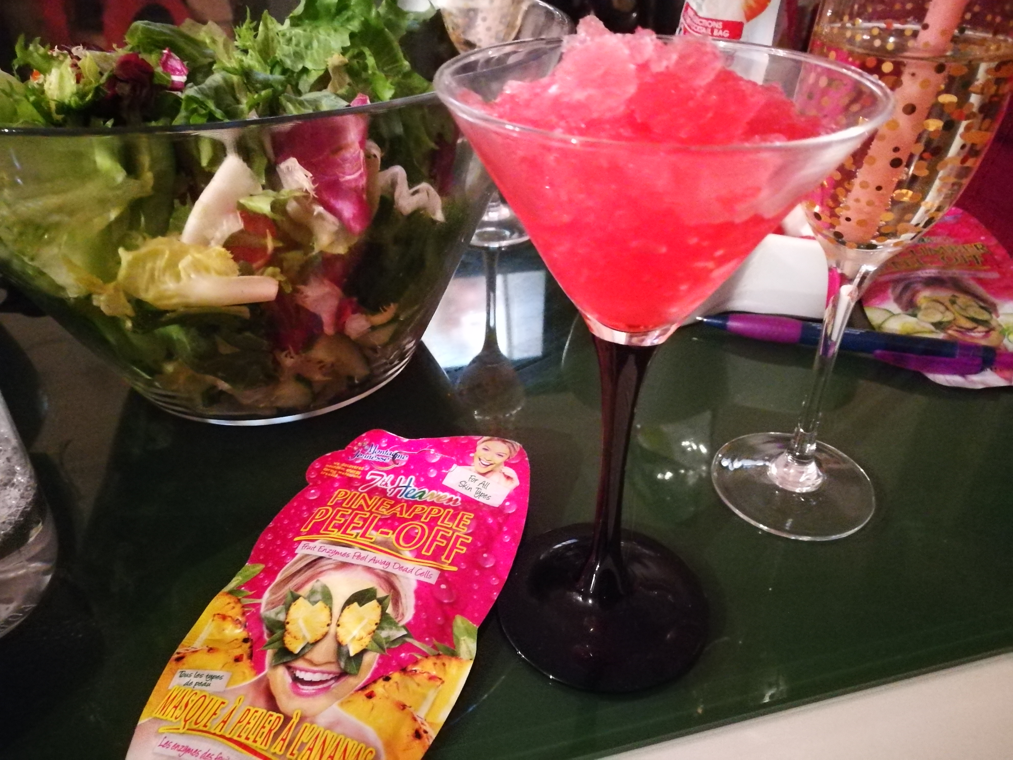 Slumber party, cocktails and face masks