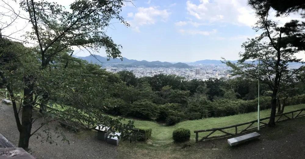 水道山公園からの桐生市