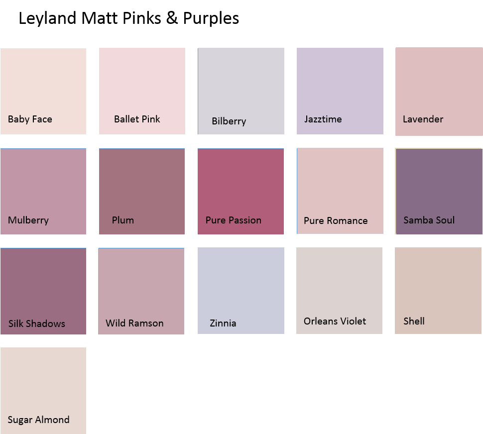 Leyland Coloured Emulsion Pinks Amp Purples 2 5ltrs 5ltrs