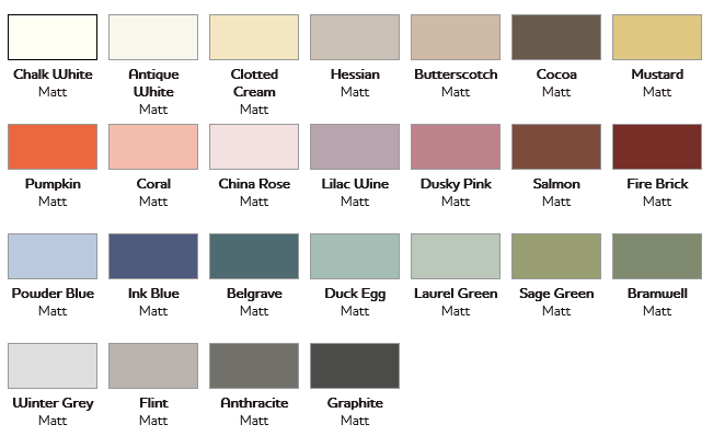 Chalky colours