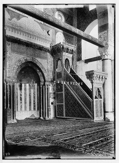 Mimbar Shalahuddin al-Ayyubi yang dibakar oleh zionis Yahudi