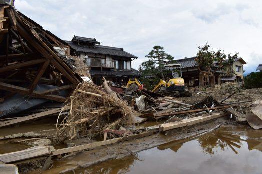 2019年10月13日台風により被災した小川醸造場(2019年10月24日)