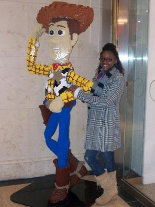Vickie and Woody life size lego