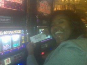My first winnings in Vegas