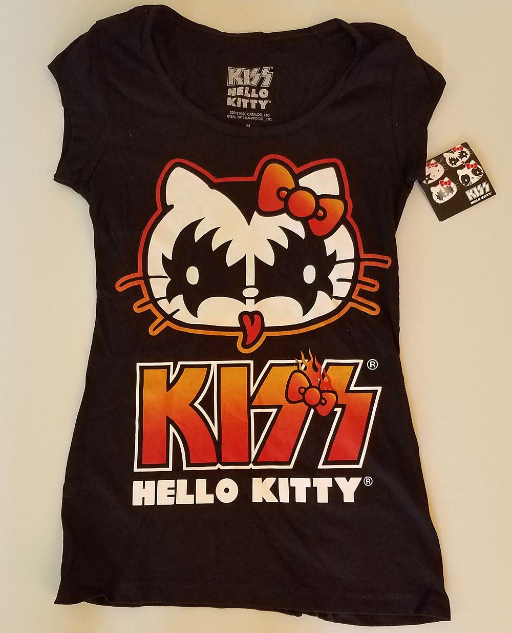 f46b5a36cb1 Women s Hello Kitty KISS Gene Kitty Baby Doll T-Shirt – KISS Addiction