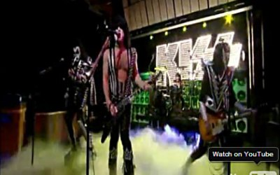 Kiss hos David Letterman