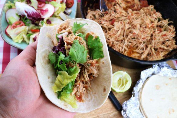 Pulled Chicken Tacos aus dem Dutch Oven