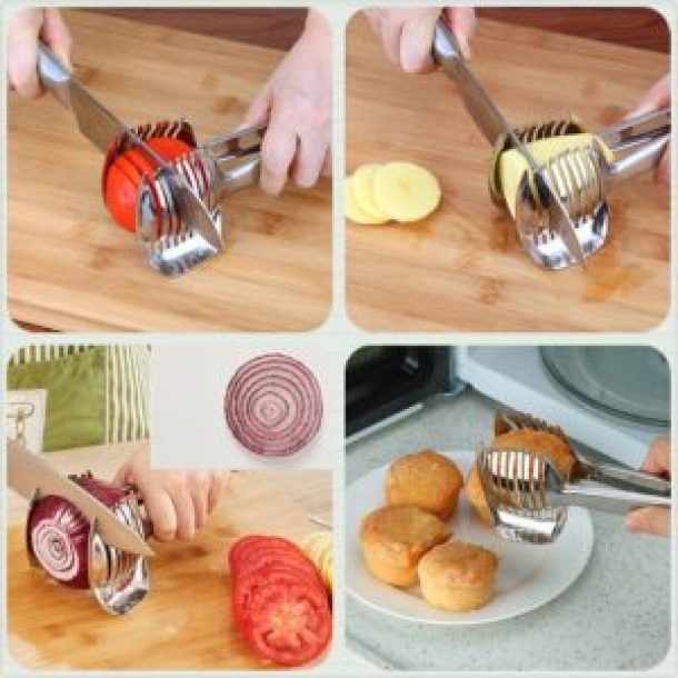 Multipurpose Handheld Round Fruit Tongs