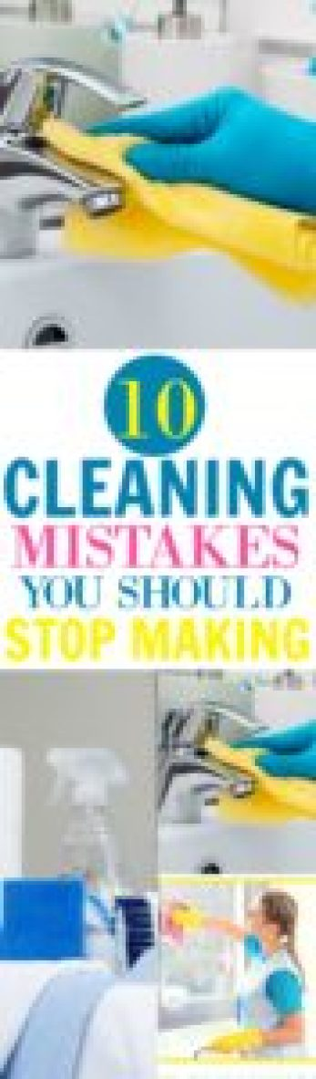 Cleaning Mistakes
