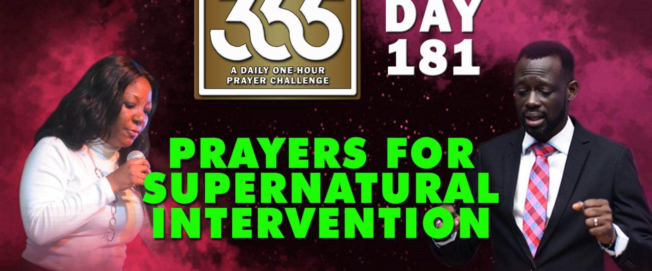 Supernatural Intervention – MFC 365 – Day 181