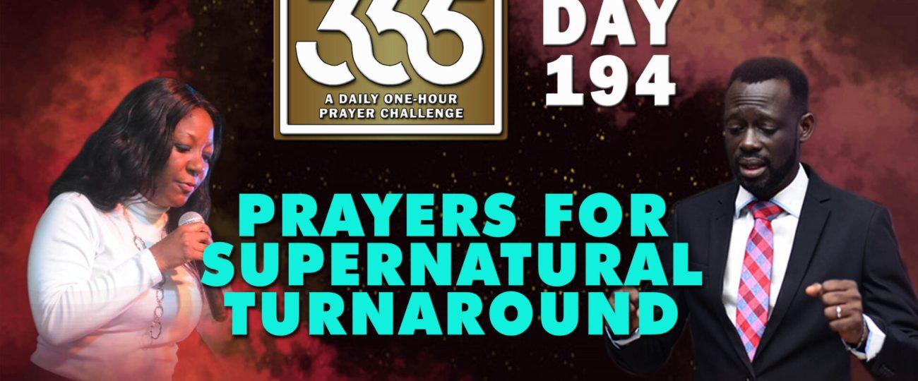 Supernatural Turnaround – MFC 365 – Day 194