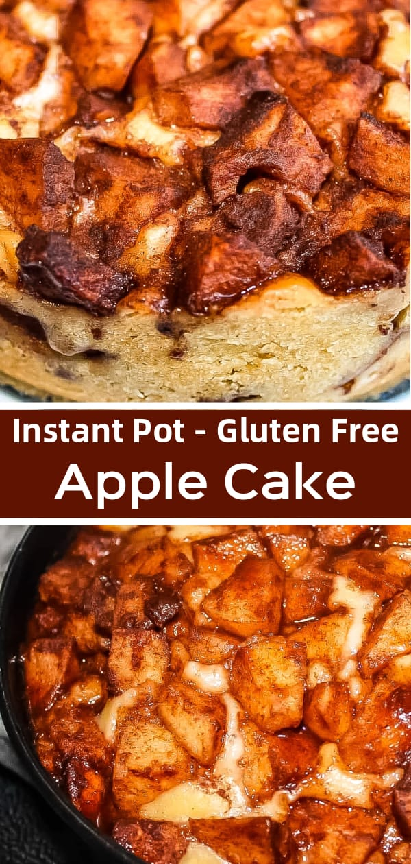Instant Pot Apple Cake is an easy gluten free pressure cooker dessert recipe perfect for fall.