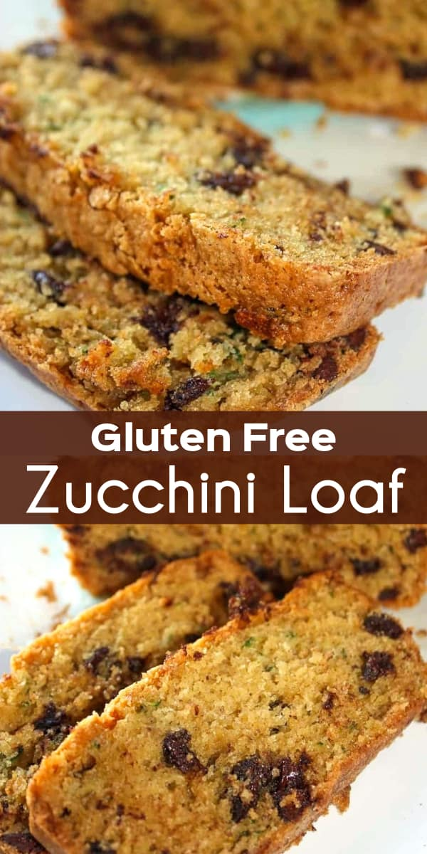 Gluten Free Zucchini Loaf is a delicious fall treat. This zucchini loaf made with Bob's Red Mill gluten free flour is loaded with chocolate chips.