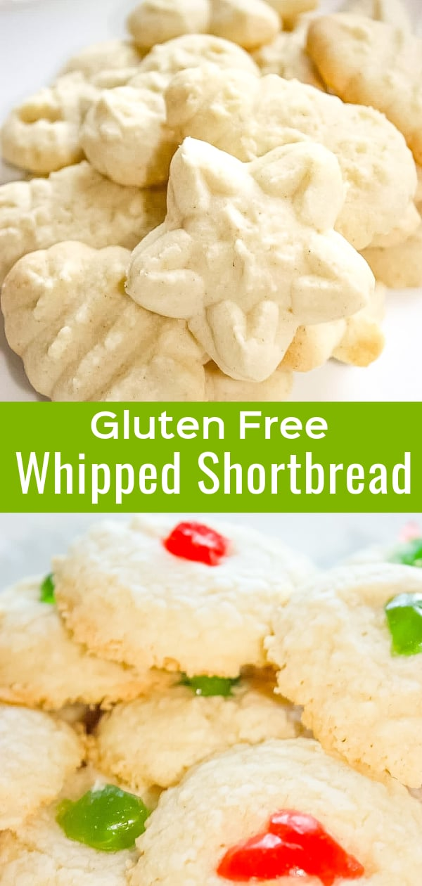 Gluten Free Whipped Shortbread Cookies are delicious Christmas cookies.