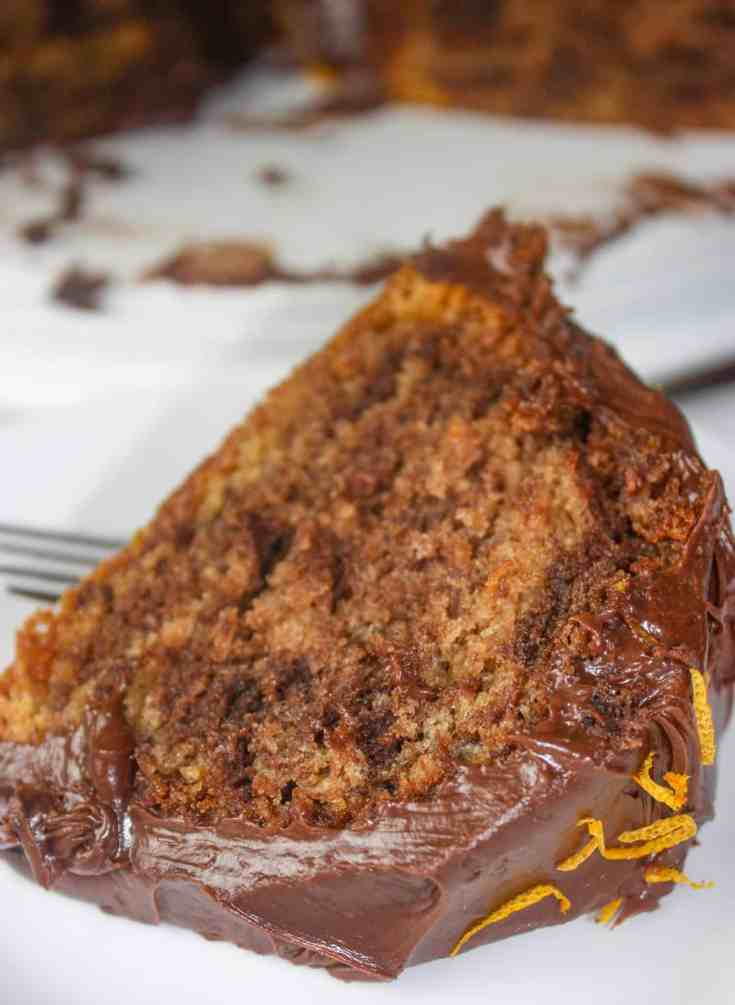 Chocolate Orange Cake is a light and fluffy slice of heaven. This gluten free cake is a delightful blend of citrus and chocolate that makes it a perfect dessert for any time of the year!