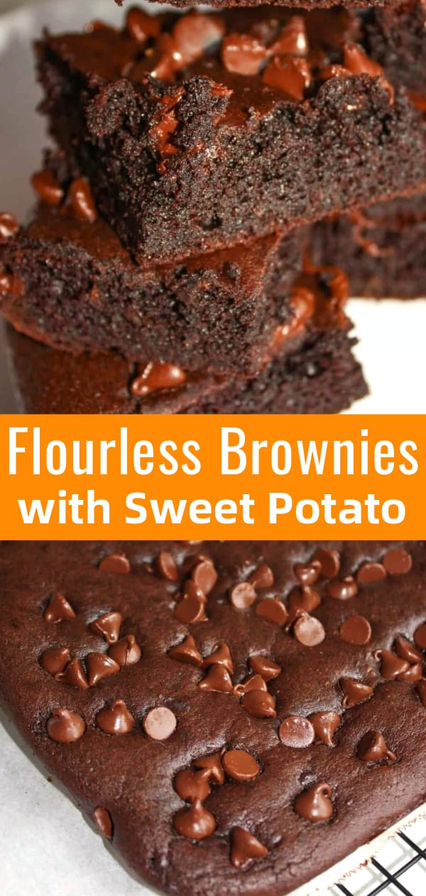 Flourless Brownies with Sweet Potato are a delicious gluten free dessert recipe.