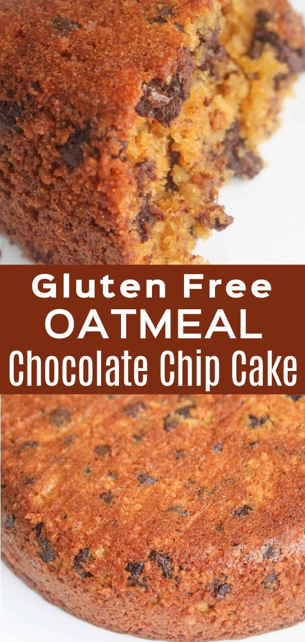 Gluten Free Oatmeal Chocolate Chip Cake is a delicious dessert or snack recipe. This chocolate chip cake is made with Bob's Red Mill flour and sweet potato.