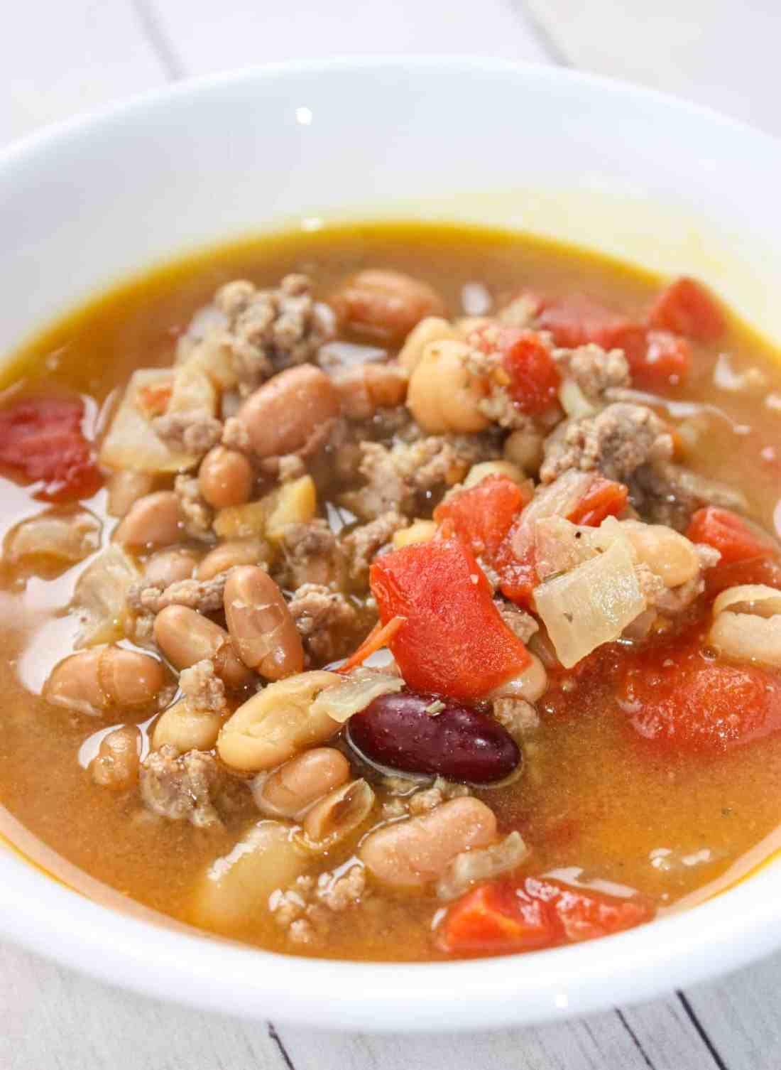 Instant Pot Beef and Bean Soup is an easy pressure cooker recipe that will delight your taste buds and warm your belly with each spoonful!