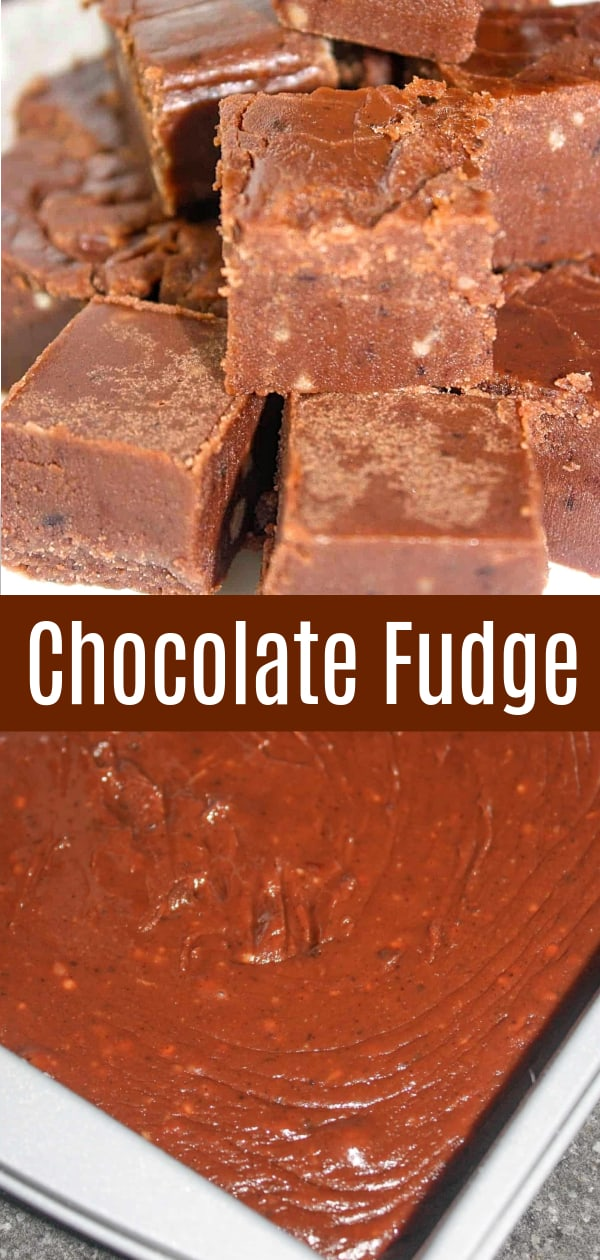 Chocolate Fudge is an easy dessert recipe using butter, brown sugar, cocoa powder and icing sugar. This easy fudge recipe is perfect for the holidays.