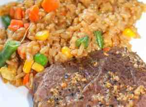 Instant Pot Beef and Rice is an easy pressure cooker recipe that allows you to make a complete meal in one Pot.  It calls for a gluten free soy sauce making it an acceptable meal for the gluten intolerant as well.