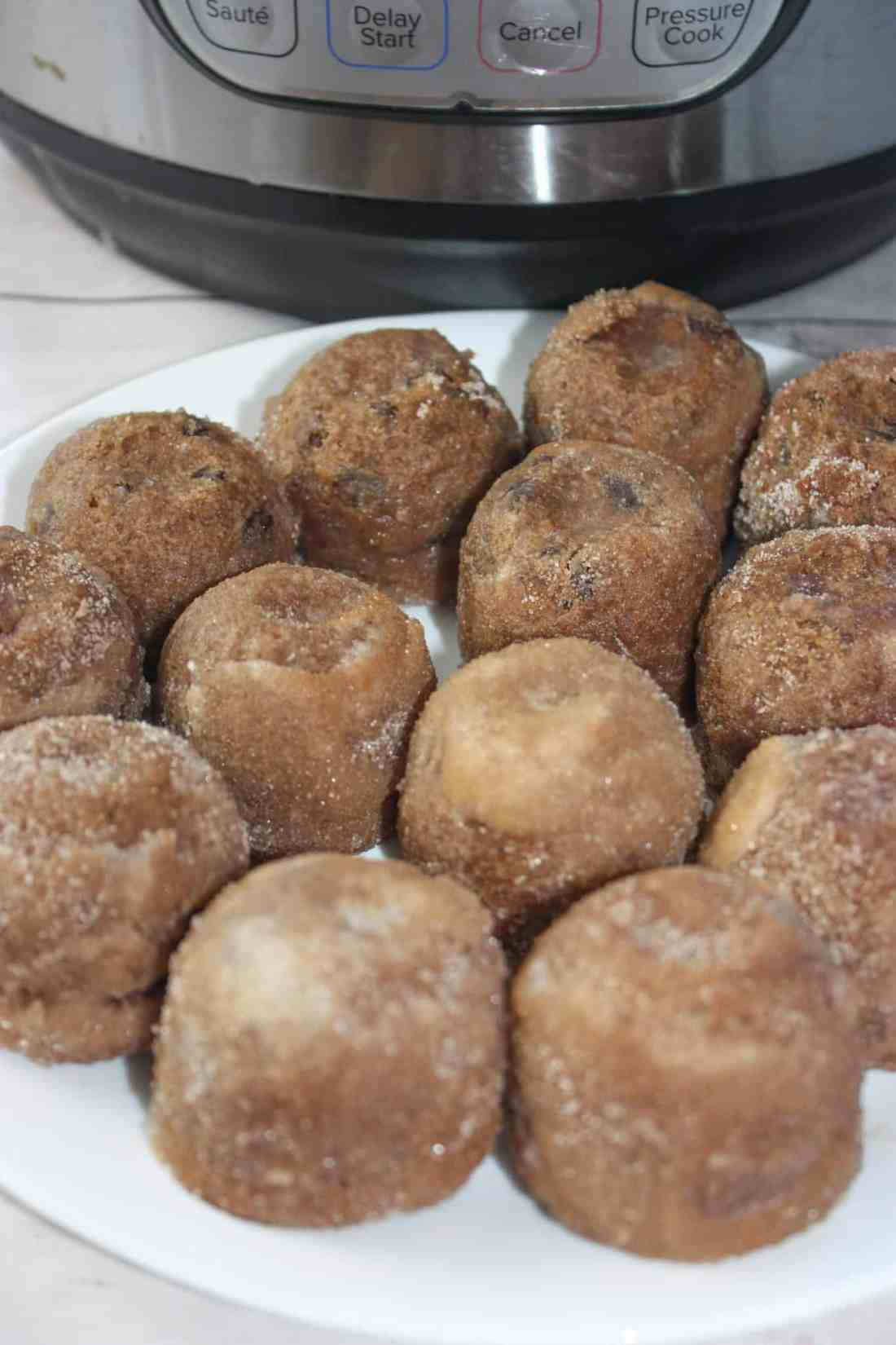 Instant Pot Glazed Cinnamon Bites are a little taste of heaven. They are one of the best gluten free treats I have tasted! These easy pressure cooker morsels loaded with cinnamon, and raisins if you like, are moist and delicious.