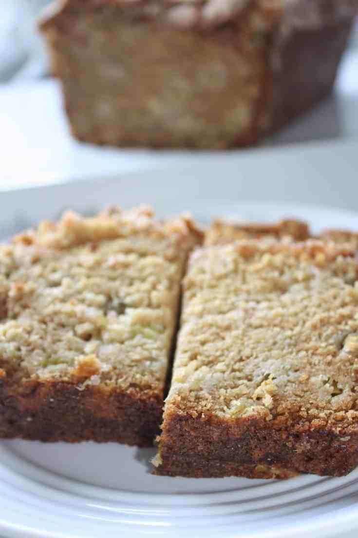 Gluten Free Rhubarb Loaf is a tasty option to use seasonal rhubarb.  This moist bread makes a great snack to pair with your favourite beverage.