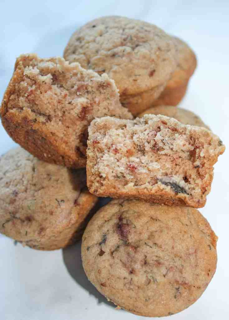 Strawberry Banana Muffins add a little taste of summer to the traditional banana muffin.  These gluten free muffins make a great snack or breakfast on the run.