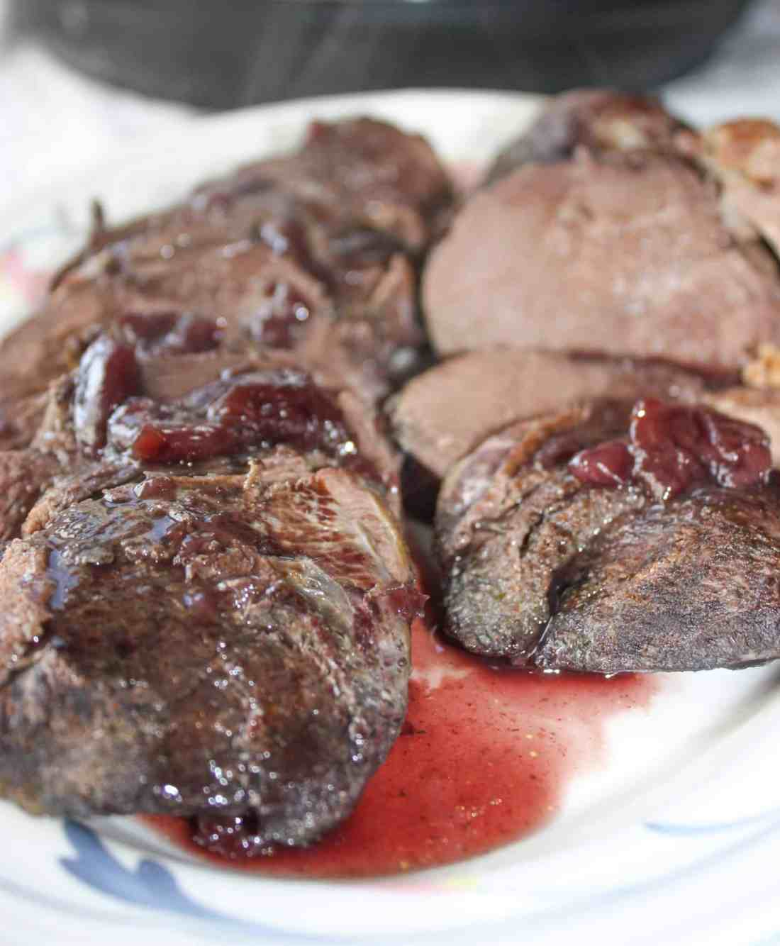 Instant Pot Wild Goose Breasts with Cherry Sauce is a great recipe to keep on hand during the fall hunting season. It is a family favourite in our house!