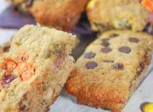 Banana Bars are an easy to make gluten free dessert or snack. This muffin or loaf variation is the perfect size to pack in school lunches.