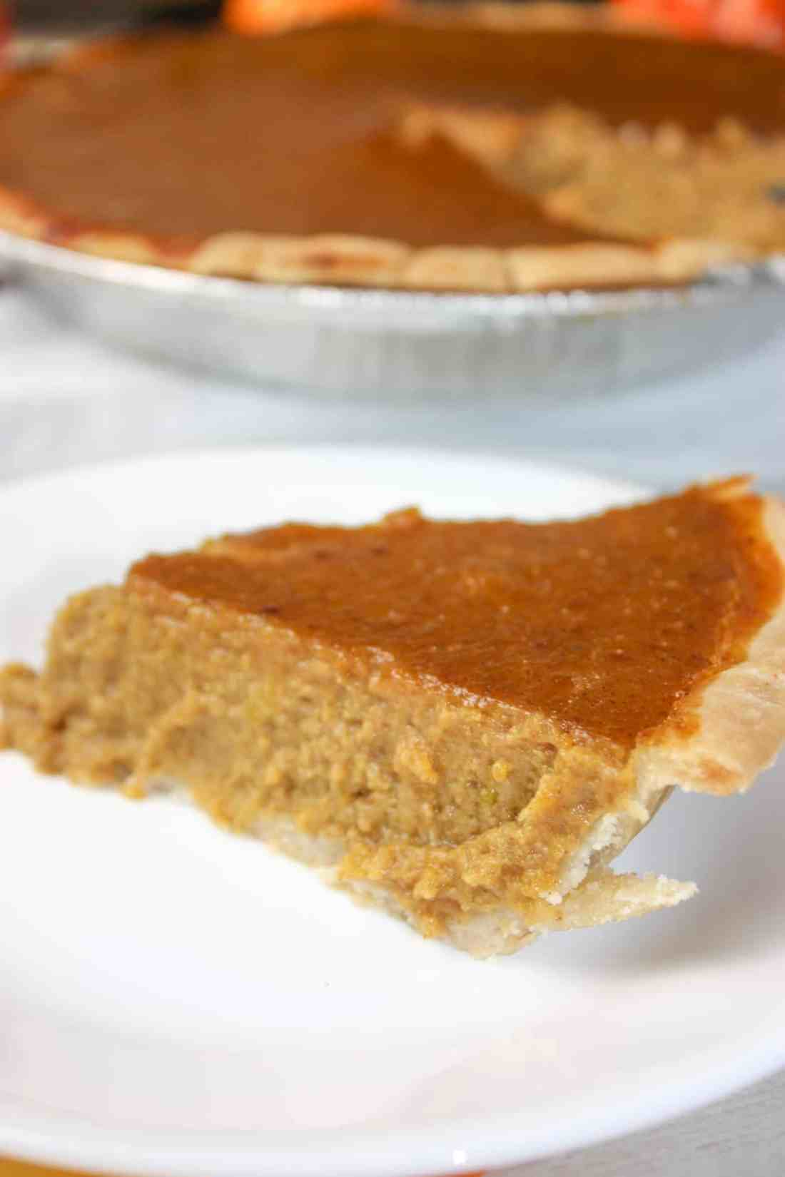 Thanksgiving would not be Thanksgiving without Pumpkin Pie.  This gluten free, dairy free version makes it possible for everyone to enjoy this traditional holiday dessert!