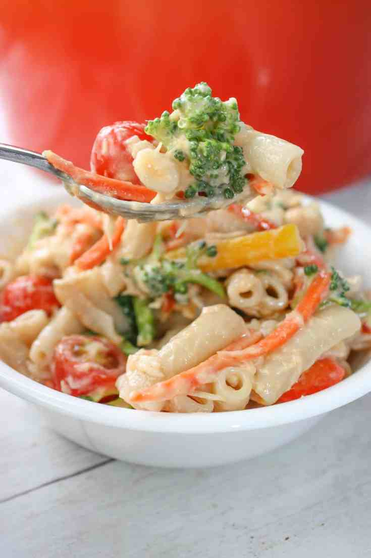 Sweet Chili Thai Tuna Casserole is an easy stove top recipe that provides lots of flavour and a bit of heat.