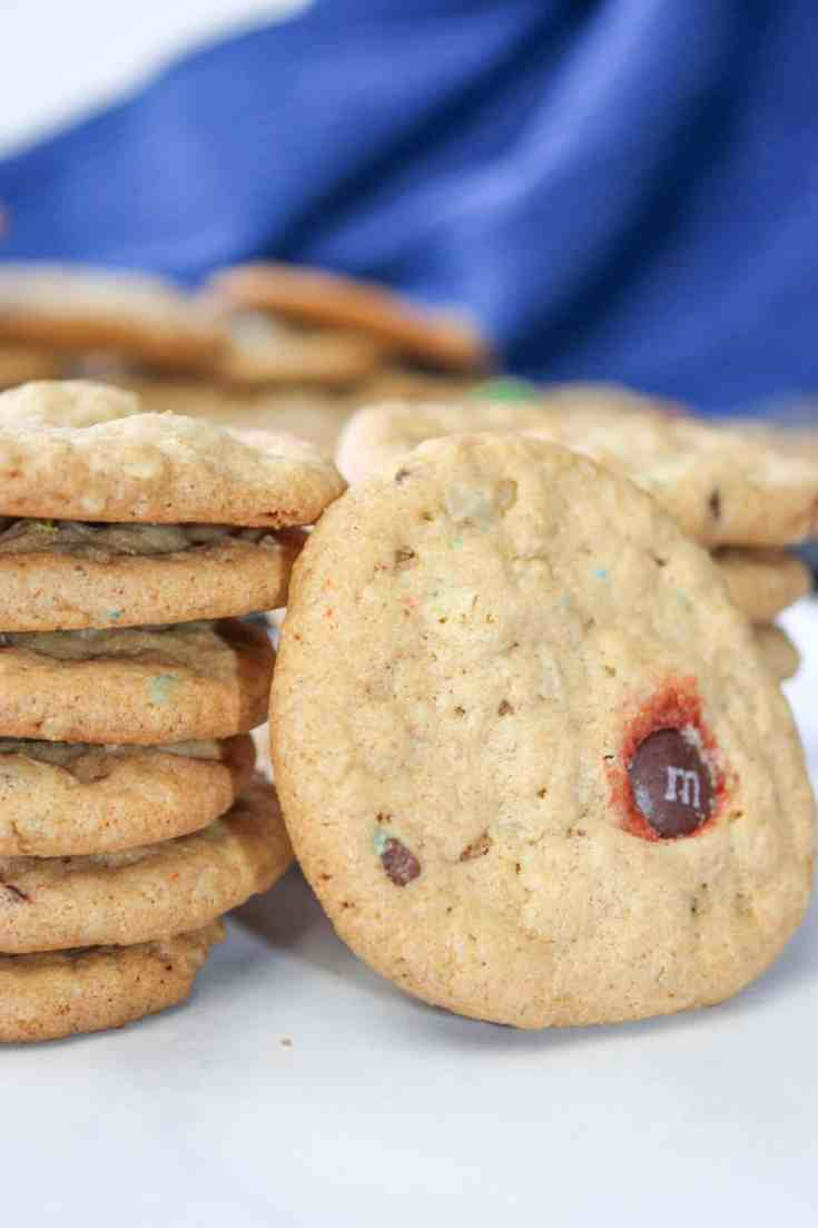 Gluten Free Monster Cookies are a tasty combination of peanut butter and oatmeal.