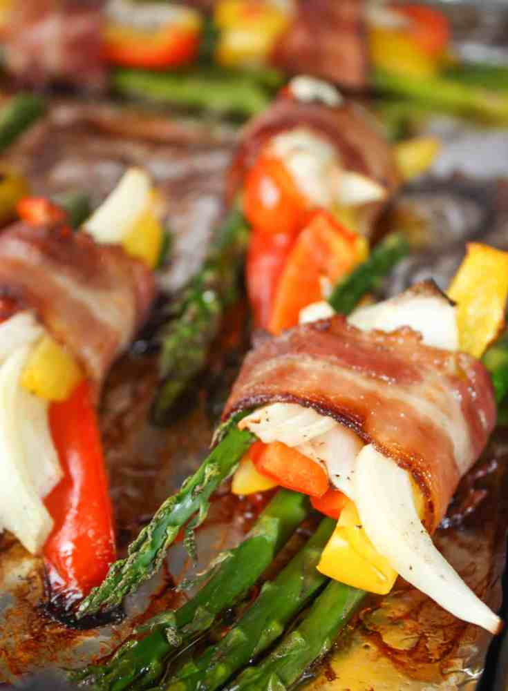 Bacon Wrapped Asparagus is a delicous seasonal side dish. With the availability of vegetables these days it can even be made year round.