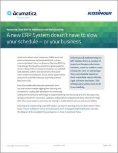 ERP System Schedule