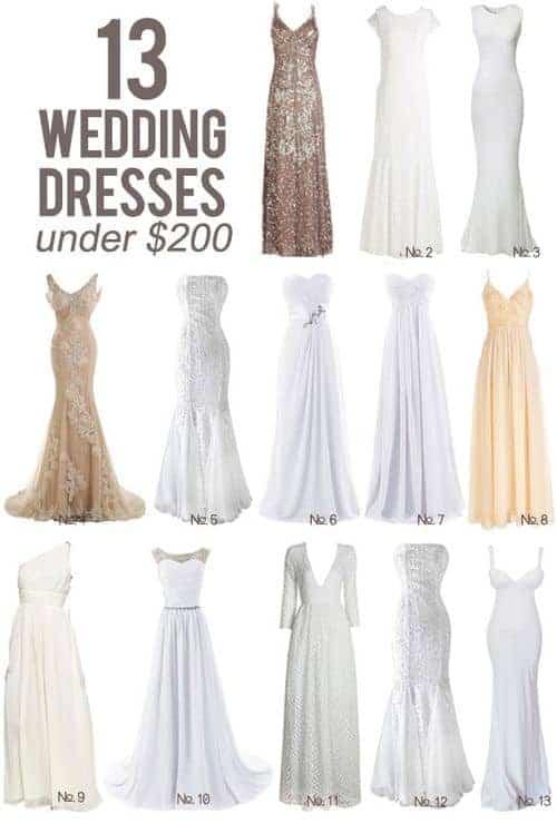 13 Wedding Dresses Under $200