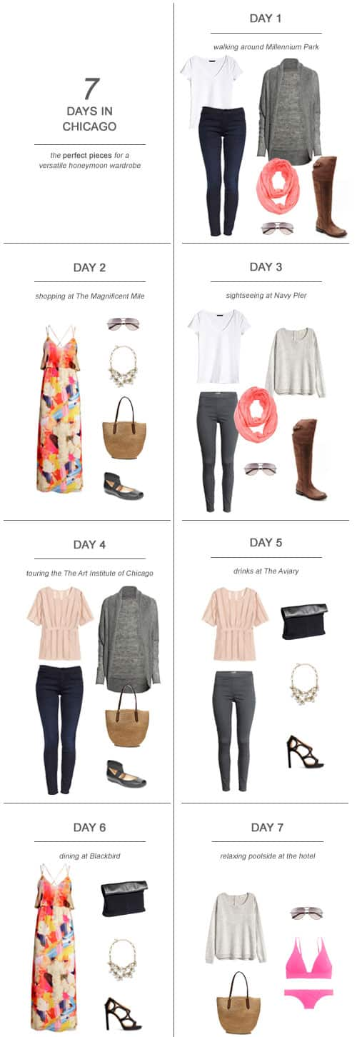 7 Days in Chicago : The Perfect Pieces for a Versatile Honeymoon Wardrobe