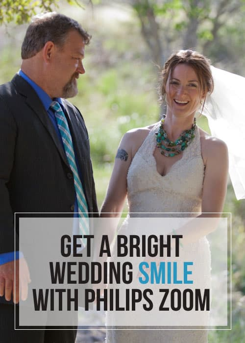 Get a Bright Wedding Smile with Philips Zoom #ad