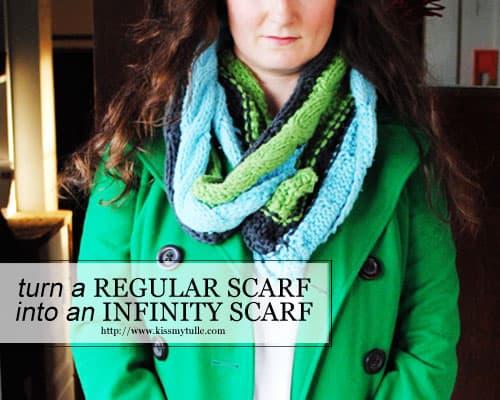 Turn a Regular Scarf into an Infinity Scarf #DIY