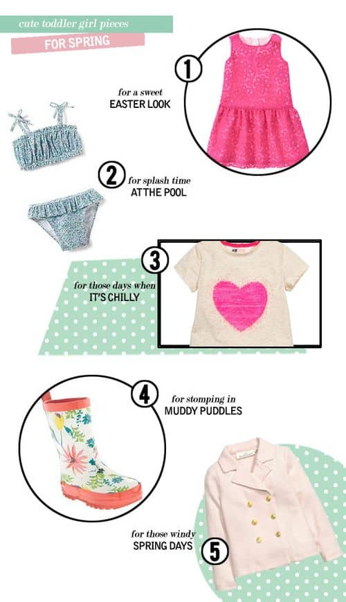 Cute Toddler Girl Pieces for Spring