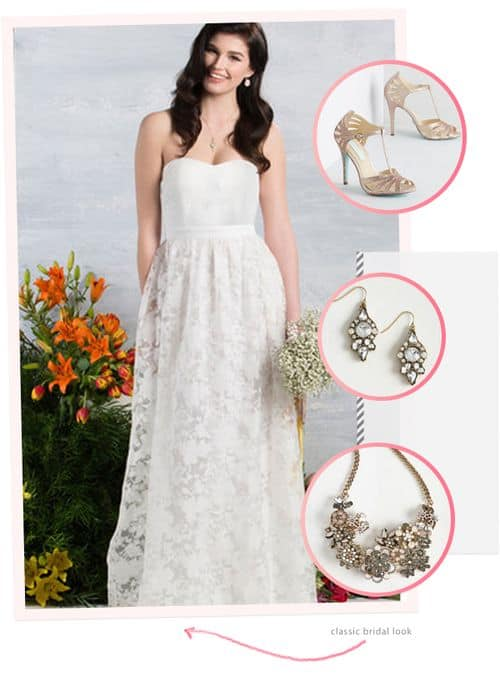 Awesome and Affordable Dresses and Accessories from the New ModCloth Wedding Line: Classic Bridal Look #bride #weddinggown #bridalgown #wedding dress