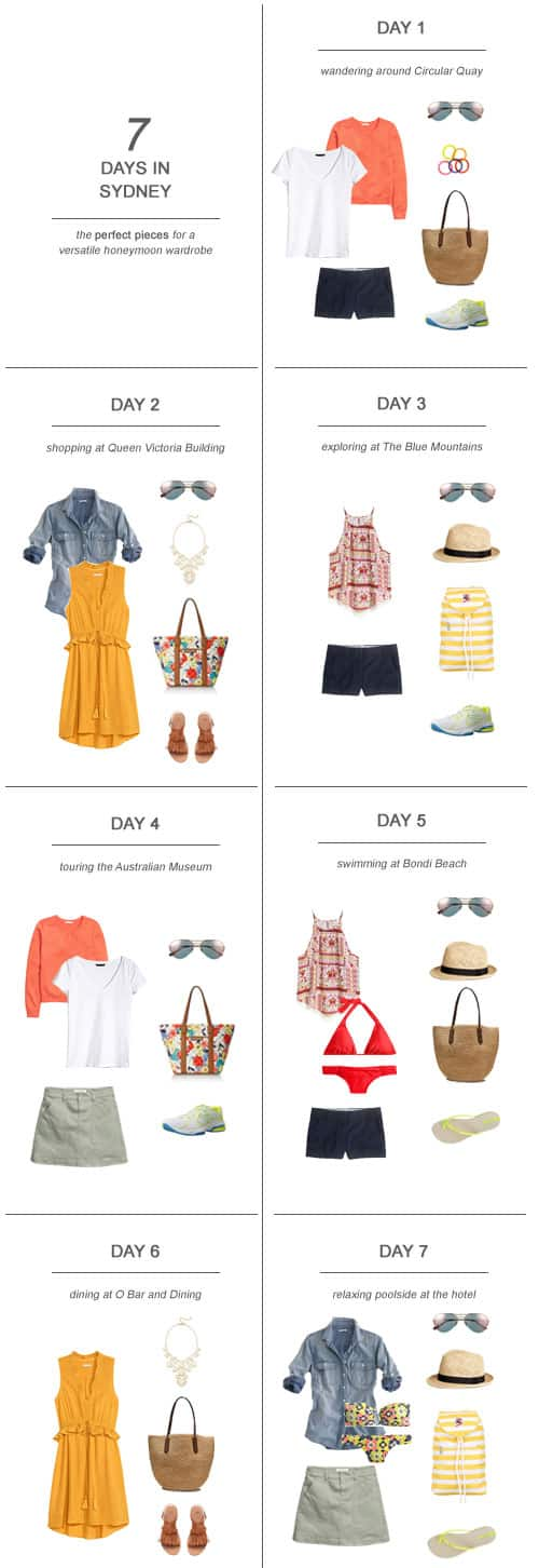 7 Days in Sydney : The Perfect Pieces for a Versatile Honeymoon Wardrobe #honeymoon #fashion #ootd #travel #packing