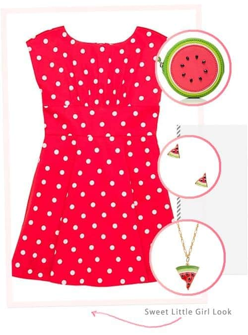Awesome and Affordable Dresses and Accessories from the kate spade Surprise Sale: Sweet Little Girl Look #fashion #outfit #ootd