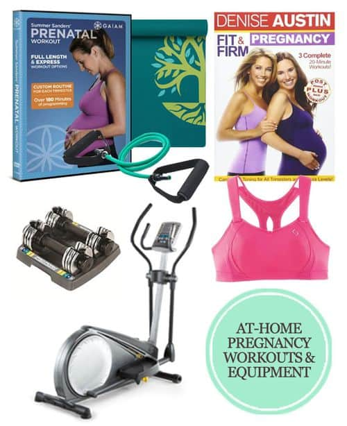 My Favorite At-Home Pregnancy Workouts and Equipment #pregnancy #workout #fitness #prenatal #firsttrimester #secondtrimester #thirdtrimester #baby