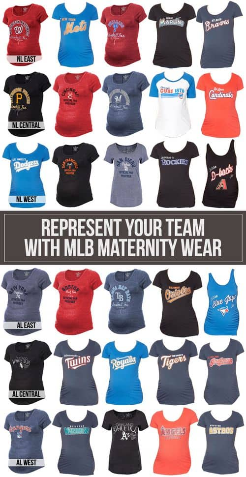 Represent Your Team With MLB Maternity Wear #baby #expecting #maternity #baseball
