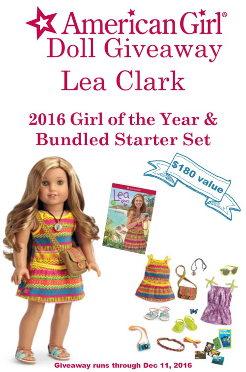 Enter to win American Girl's 2016 Girl of the Year Lea Clark