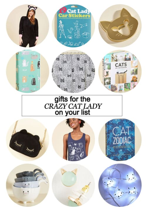 Gifts For The Crazy Cat Lady On Your List #gifts #shopping holidasy #Christmas #cats