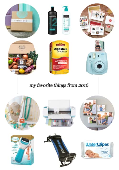 My Favorite Things From 2016 #StitchFix #BlueApron #TotalGym #NatureMade #WaterWipes #Amope #Tresemme #Instax #Cricut #StellaDot #Minted #Mixbook