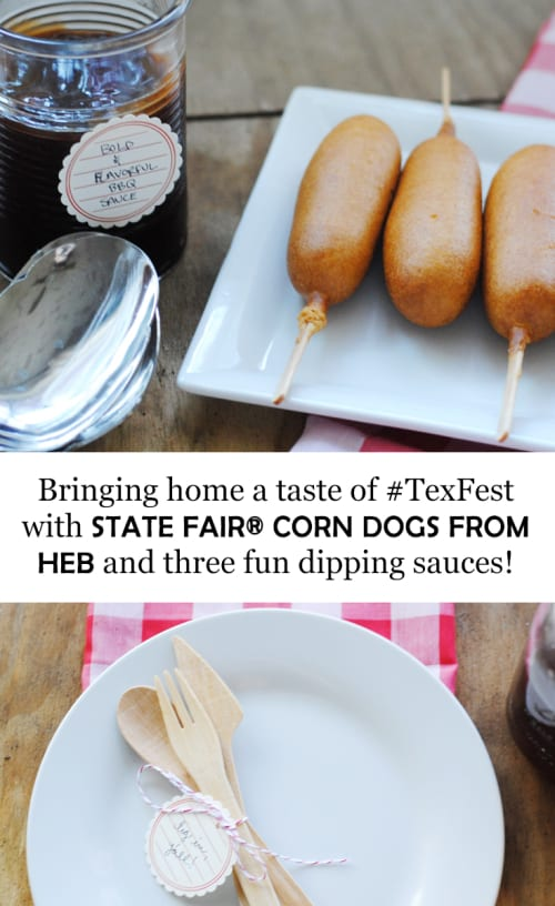 Bringing Home A Taste Of #TexFest With HEB's State Fair Corn Dogs And Three Fun Dipping Sauces #ad
