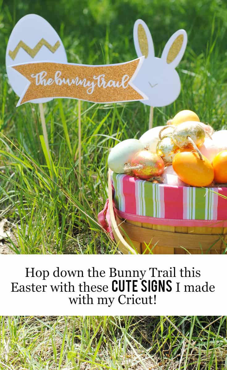 Hop Down the Bunny Trail this Easter with these Cute Signs that I Made with my Cricut #DIY @officialCricut #ad